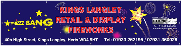 Whizzz bang fireworks advert